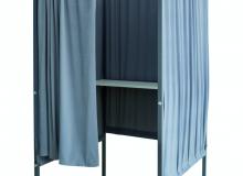 Látková volební zástěna v šedé barvě