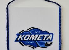 Vlaječka do auta s přísavkou, logo HC Komety Brno