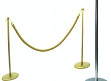 Lakovaná lanová zábrana