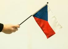 Česká vlaječka - mávací, malá