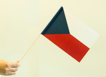 Česká vlaječka - mávací, papírová