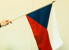 Česká vlaječka - mávací, velká