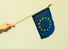 Mávací vlaječka EU - malá