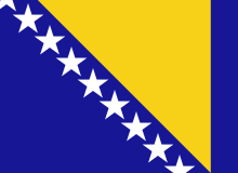 Vlajka Bosny a Hercegoviny