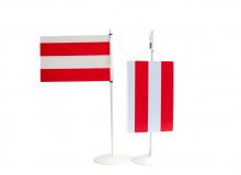 Brněnská vlajka v obou provedeních