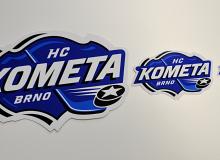 Samolepky HC Kometa Brno, tři rozměry