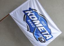 Vlajka HC Kometa Brno, v různých velikostech