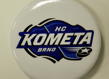 Button s logem HC Komety Brno