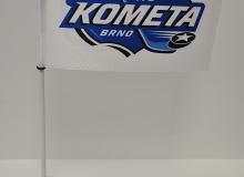 Stolní vlaječka HC Kometa Brno na nasunutí se stojánkem