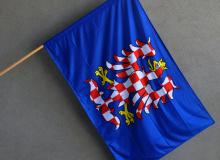 Moravská vlajka modrá s orlicí