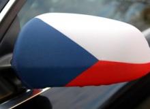 Vlajka ČR na zpětné zrcátko (návlek na auto)