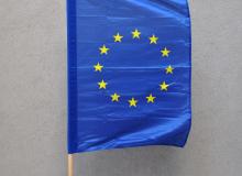 Vlajka EU - 60 x 90 cm, zástava, tunýlek na boku