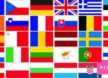 Sada vlaječek států EU