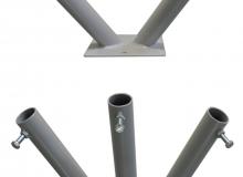 Fasádní lakované držáky pro žerdi do průměru 35 mm