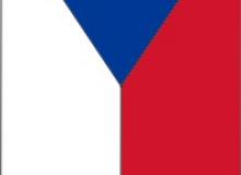 Česká vlajka v provedení zástavy s průchozím tunýlkem nahoře