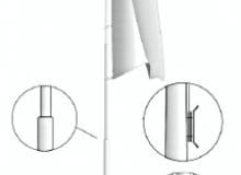 Hliníkový vlajkový stožár s vnějším vedením lanka