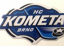 Samolepky HC Komety Brno se zalitím pryskyřicí 3D
