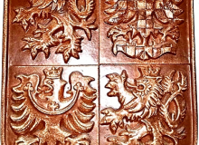 Keramický státní znak - materiál kamenina