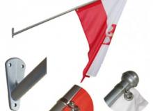 Komplet fasádního držáku vlajek a žerdi - kovový