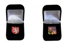 Reprezentativní krabička s odznakem se státním znakem