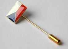 Odznak - vlaječka ČR - uchycení jehla