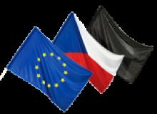 Sada vlajek ČR, EU, smuteční