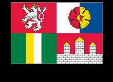 Samolepka vlajky Jihočeského kraje