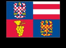 Samolepka vlajky Jihomoravského kraje