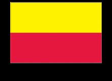 Samolepka vlajky Hlavního města Prahy