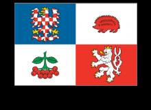 Samolepka vlajky kraje Vysočina