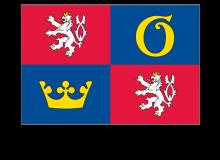 Samolepka vlajky Královehradeckého kraje