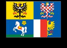 Samolepka vlajky Moravskoslezského kraje