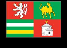 Samolepka vlajky Plzeňského kraje