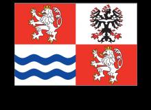 Samolepka vlajky Středočeského kraje