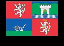 Samolepka vlajky Ústeckého kraje