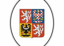 Smaltovaný ovál s velkým státním znakem ČR bez textu