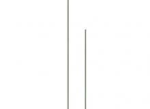 Kovový stojánek drátový - chromovaný