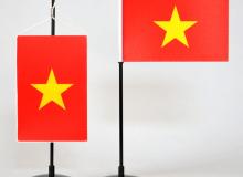 Vietnam stolní vlaječka saténová tištěná