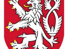 Stolní vlaječka s malým státním znakem ČR