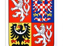 Plastový velký státní znak ČR