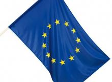 Vlajka evropské unie - tištěná venkovní vlajka EU