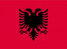 Albánie vlajka