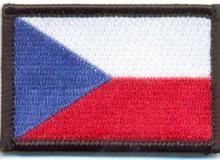 Vyšívaná rukávová nášivka – vlaječka České republiky