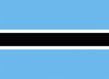 Botswanská republika vlajka