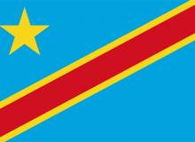 Kongo-demokratická republika vlajka