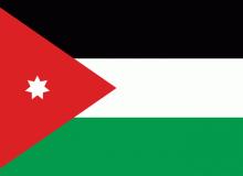 Jordánsko vlajka