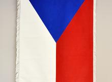 Slavnostní sametová vlajka České republiky