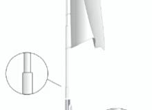 Sekční vlajkový hliníkový stožár  s vnitřním vedením lanka