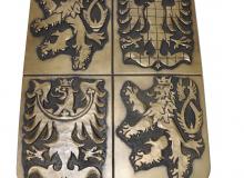 Zlatý polyuretanový velký státní znak ČR v rozměru 415 x 324 mm