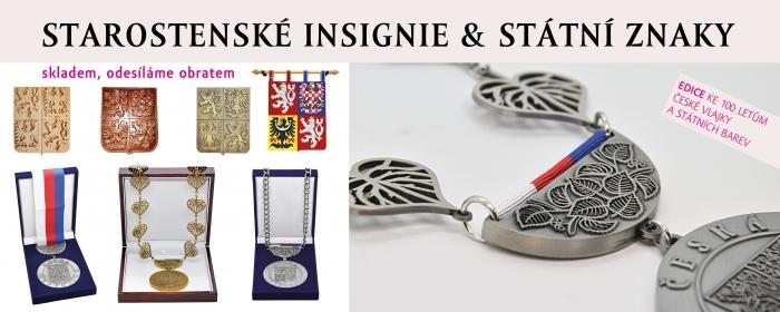 Starostenské insignie a státní znaky